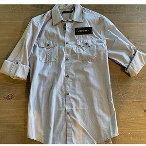 Men's Axist Long-Sleeve Casual Button-Down Shirt
